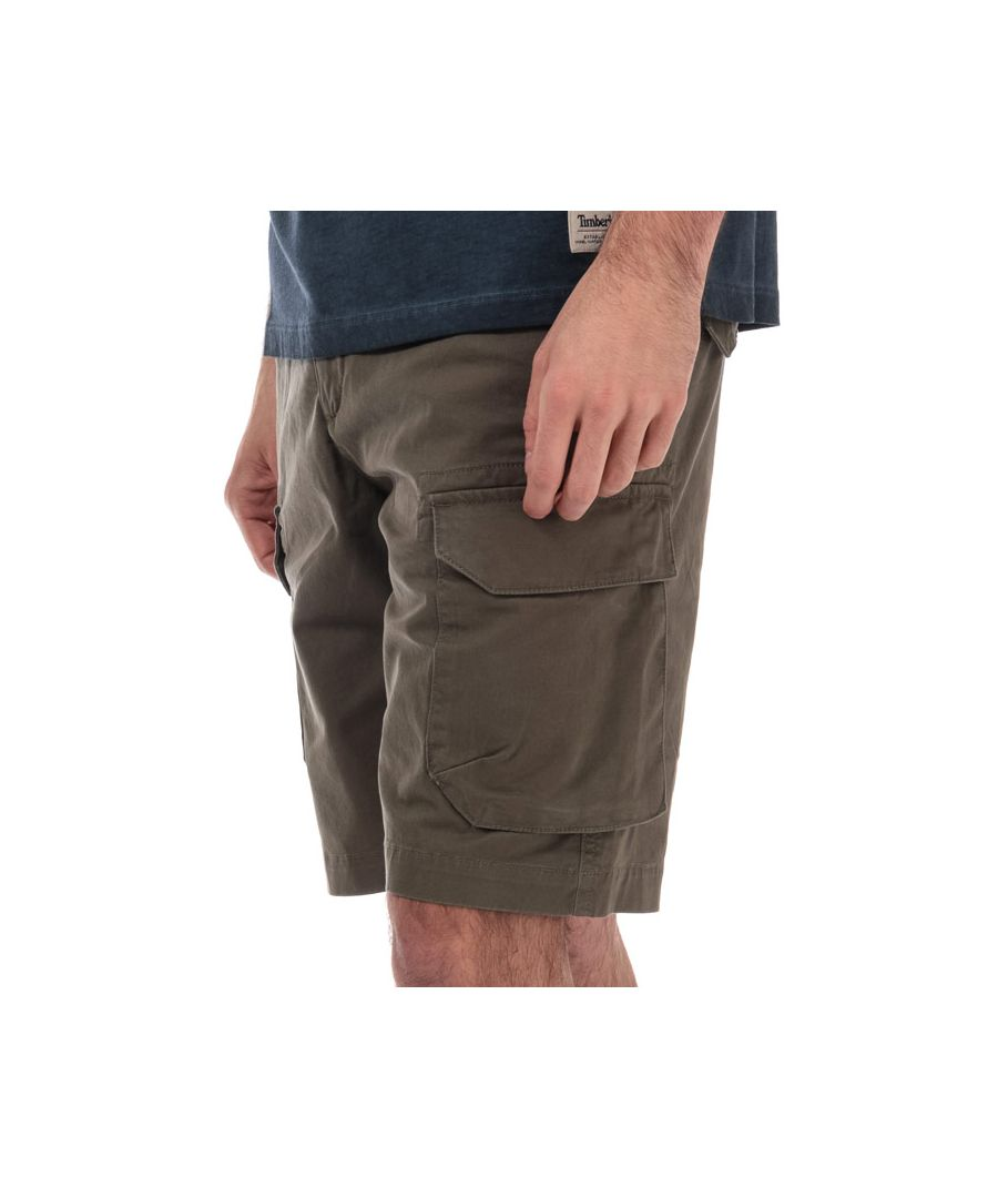 Image for Men's Timberland Webster Lake Stretch Twill Cargo Shorts in Khaki