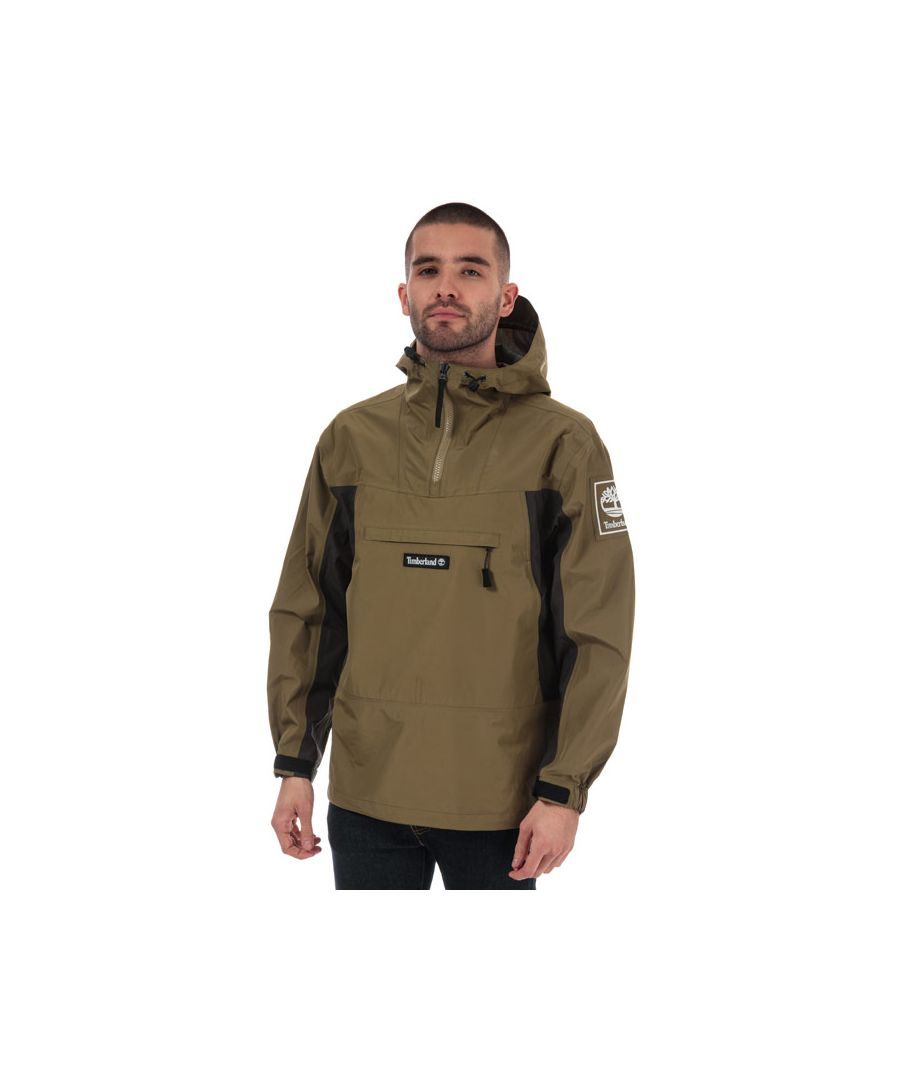 Image for Men's Timberland YCC Waterproof Pullover Jacket in olive