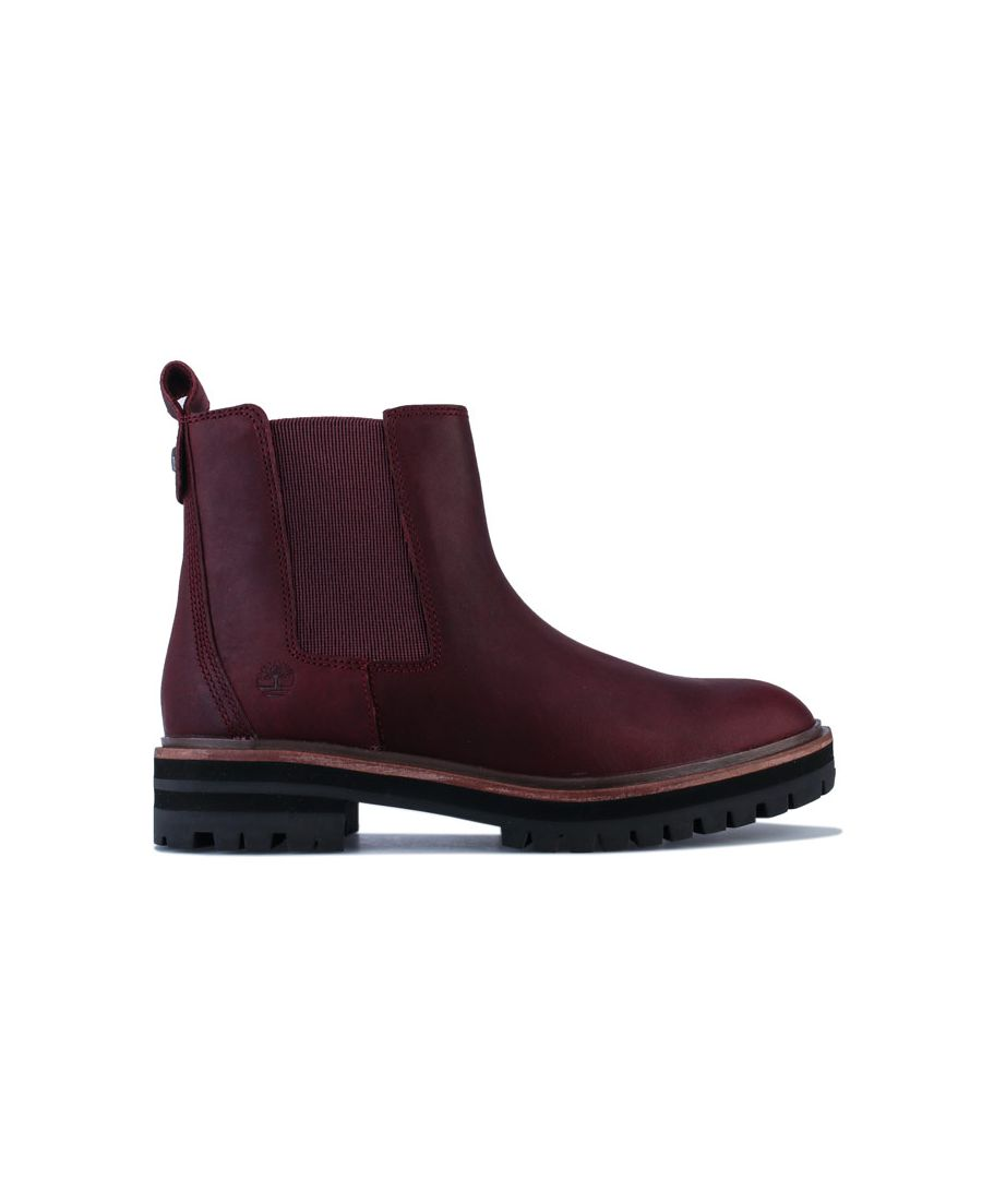 Image for Women's Timberland London Square Double Gore Chelsea Boots Port UK 4.5in Port