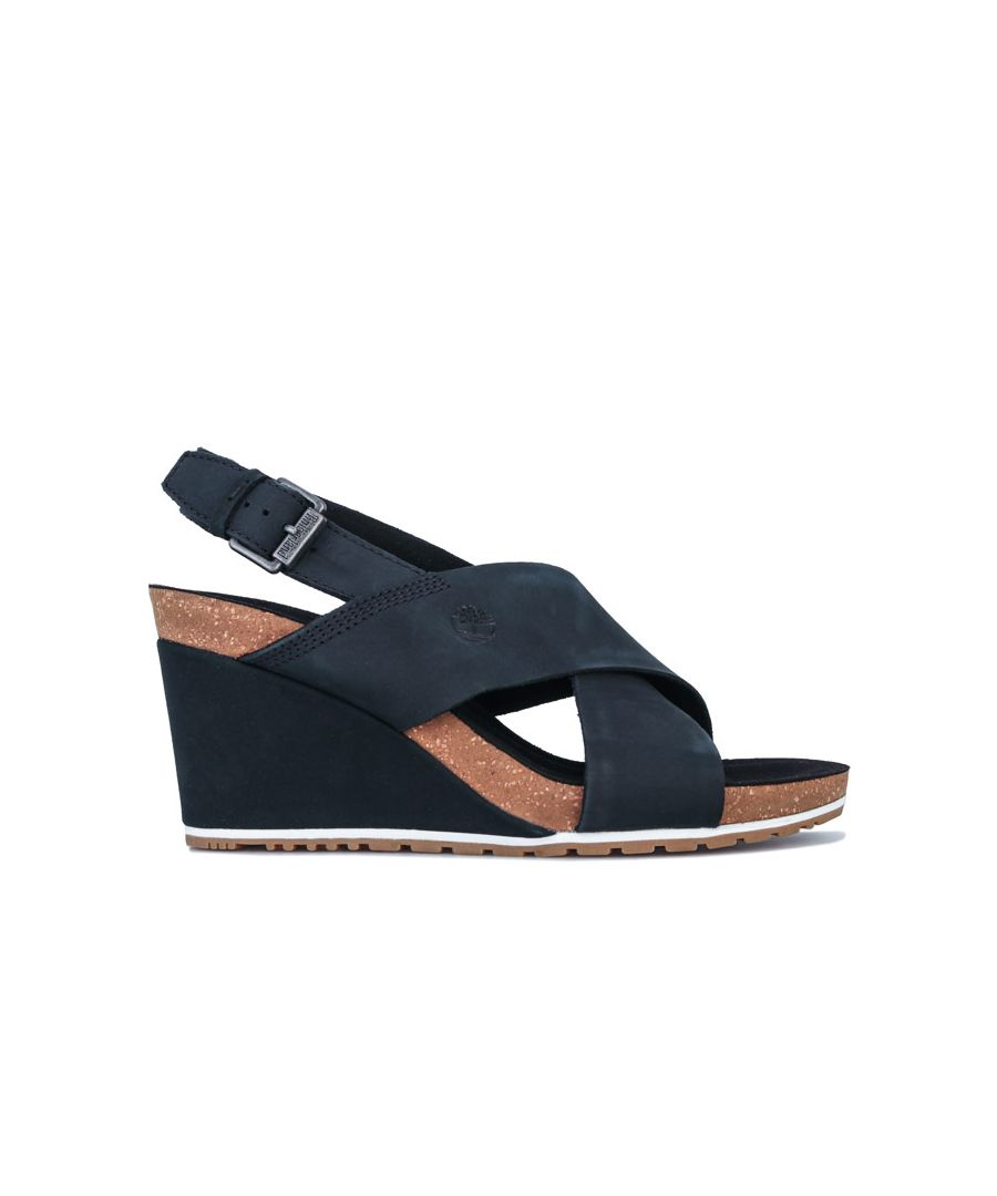 Image for Women's Timberland Capri Sunset X-Band Wedge Sandals in Black