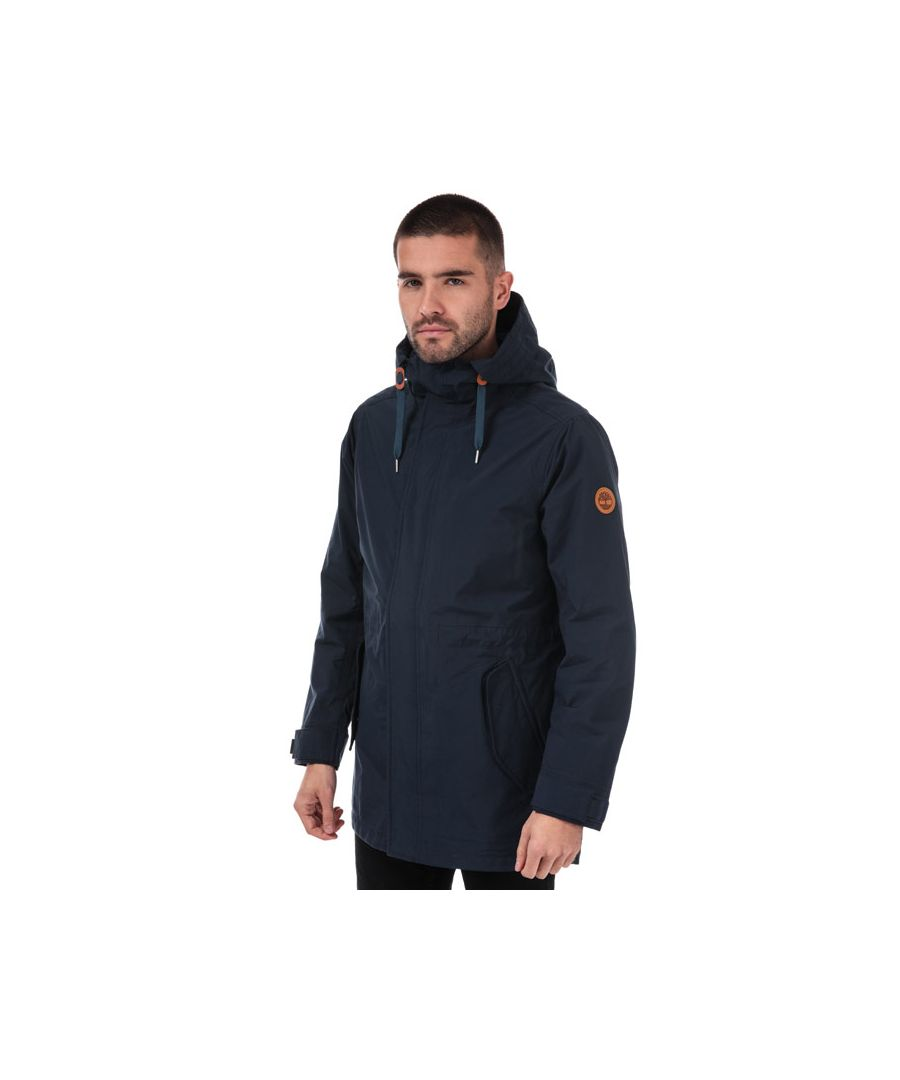 Image for Men's Timberland 3 in 1 Fishtail Parka Jacket in Navy