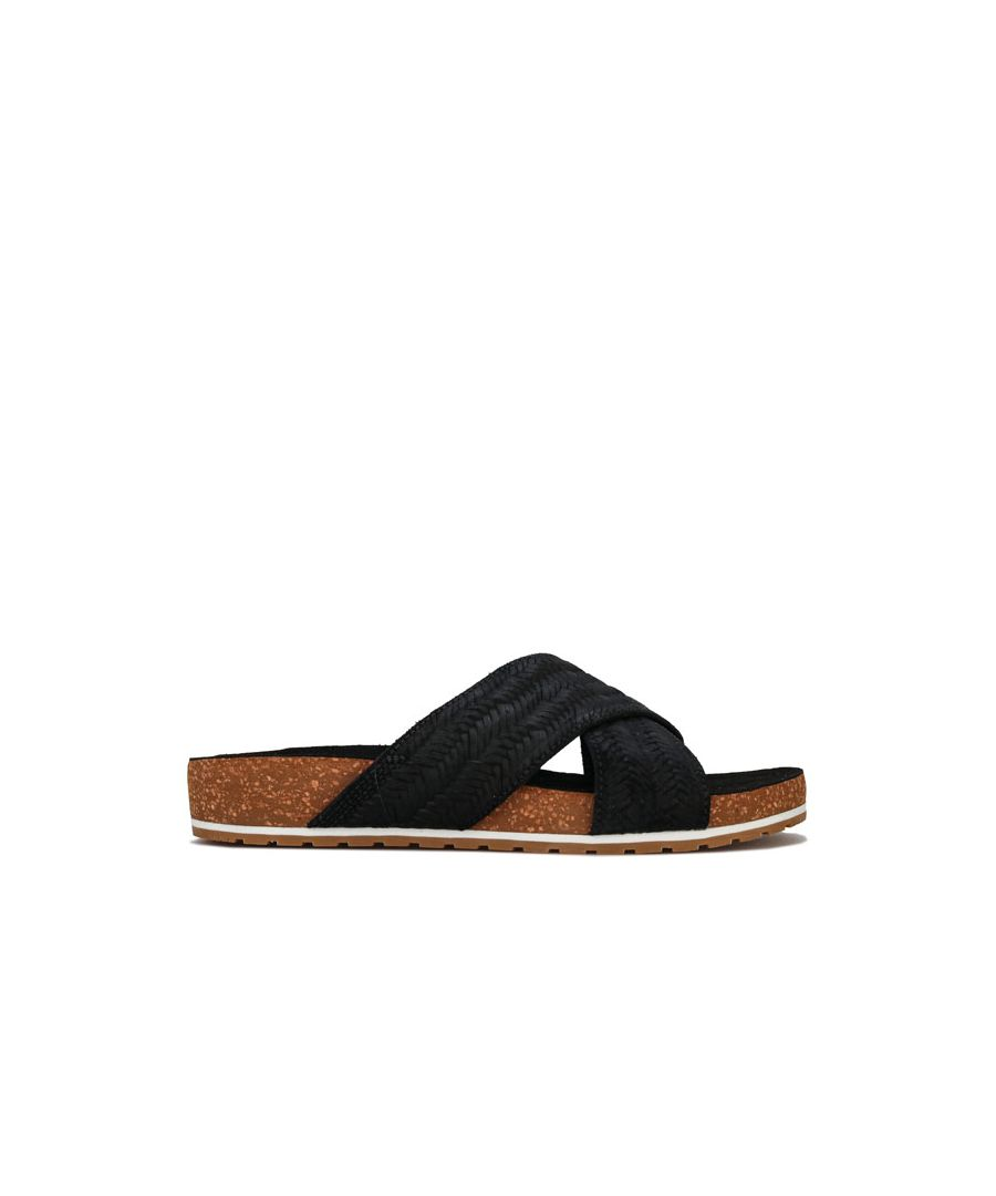 Image for Women's Timberland Malibu Waves Cross Slide Sandals in Black