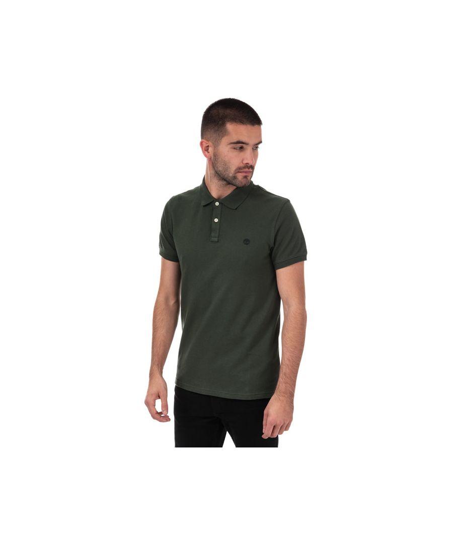 Image for Men's Timberland Miller Rivers Slim Polo Shirt in Khaki