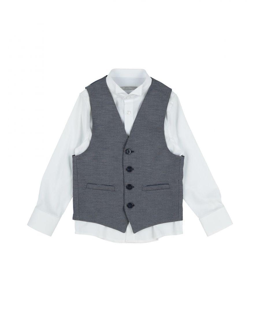 Image for Daniele Alessandrini Boys' Cotton Waistcoat in Blue