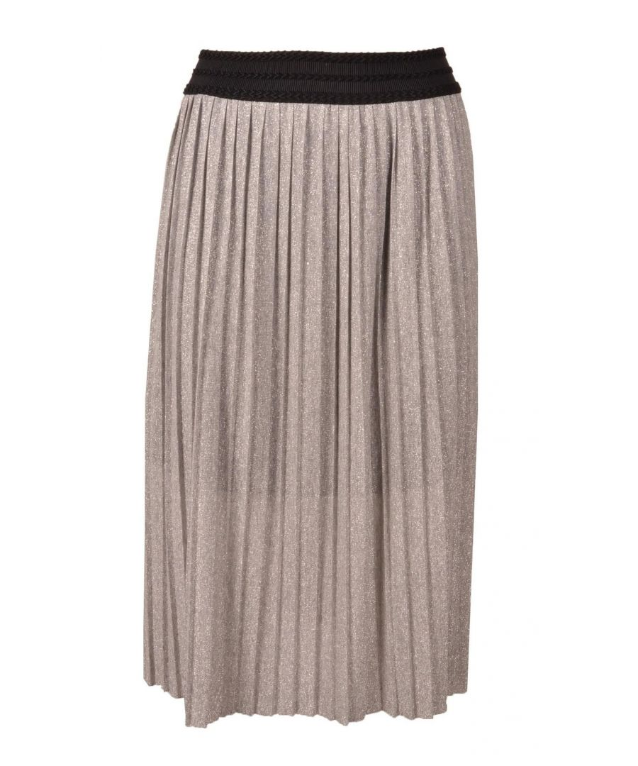 Image for TWENTY EASY BY KAOS WOMEN'S MR010SILVER SILVER POLYESTER SKIRT