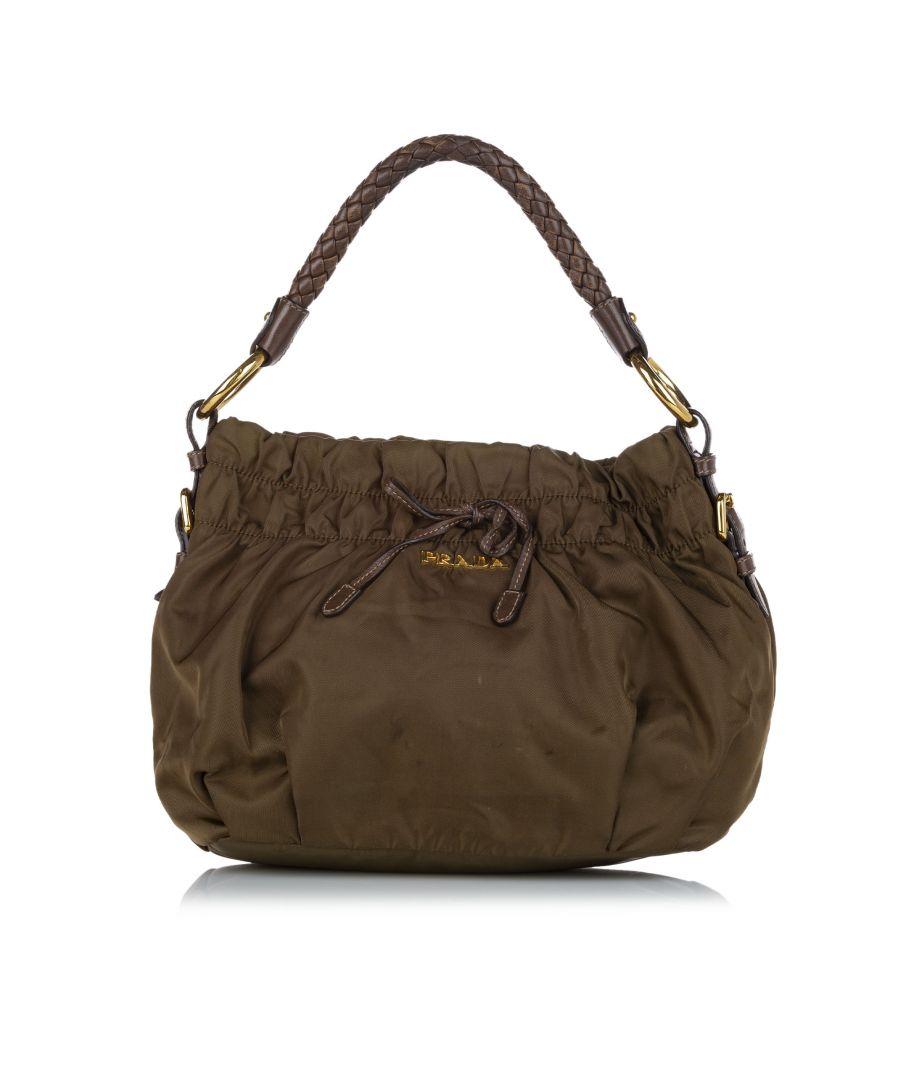Image for Vintage Prada Tessuto Shoulder Bag Green