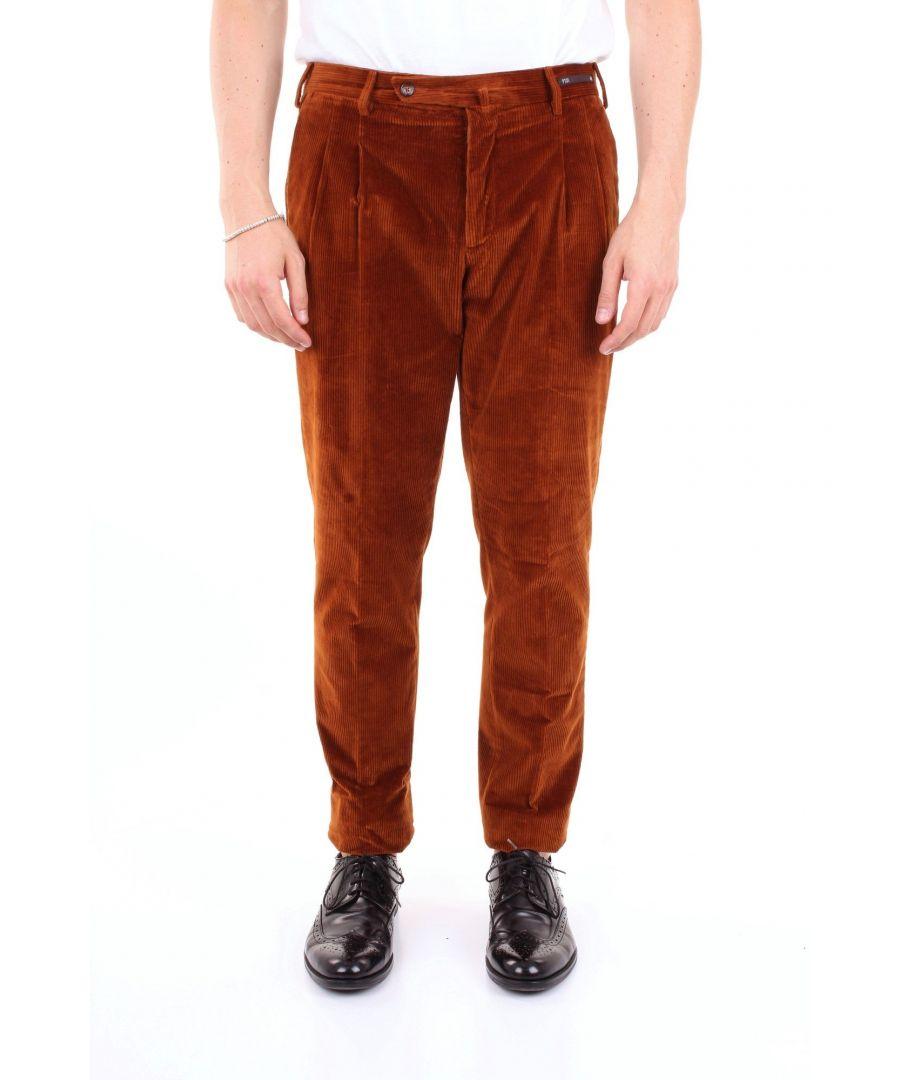 Image for PT01 MEN'S PG91HS22ZS0CL2BROWN BROWN COTTON PANTS
