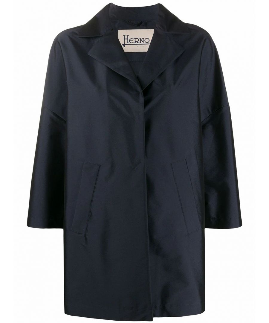 Image for HERNO WOMEN'S GC0266D13470S9208 BLUE POLYESTER COAT