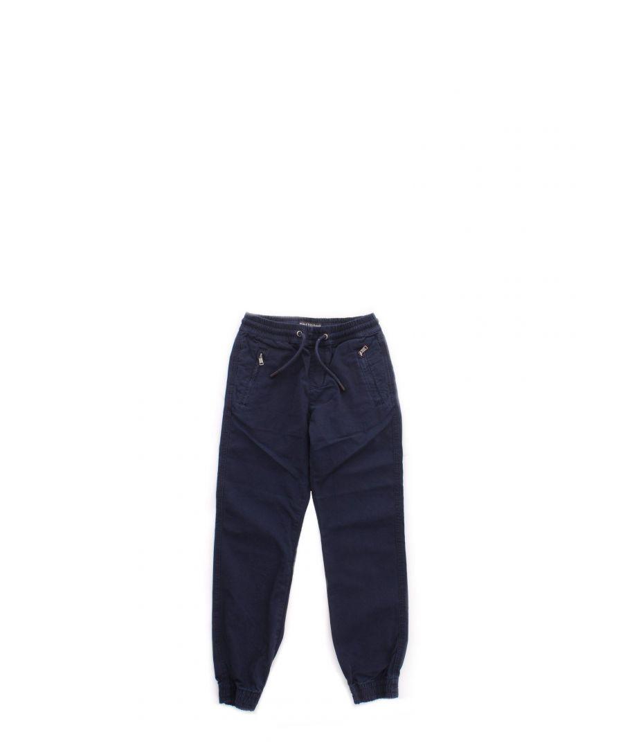 Image for GUESS BOYS L01B00D3XN0DEKB BLUE COTTON PANTS