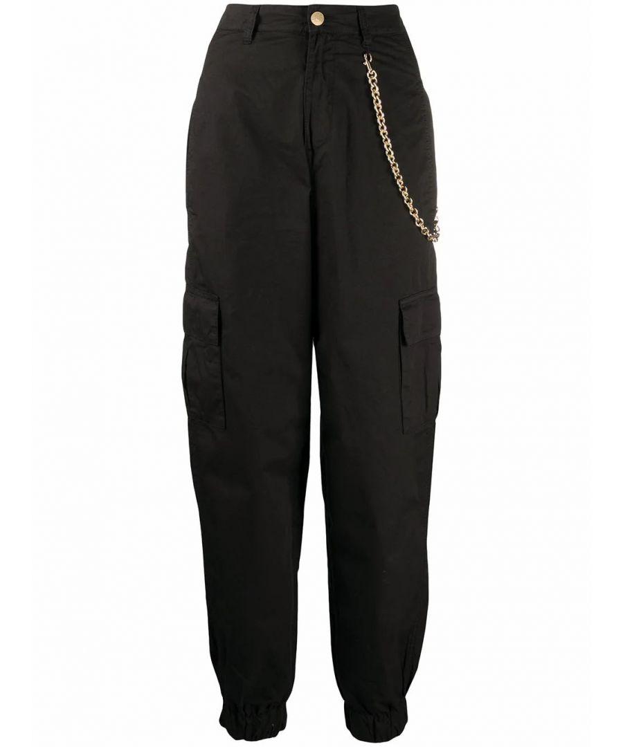 Image for CHIARA FERRAGNI WOMEN'S CFP058BLACK BLACK COTTON PANTS