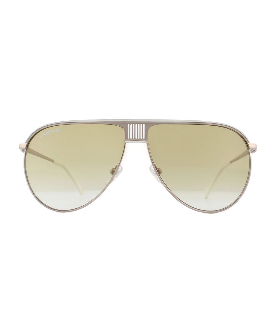 Image for Lacoste Sunglasses L200S 714 White and Gold Brown Gradient