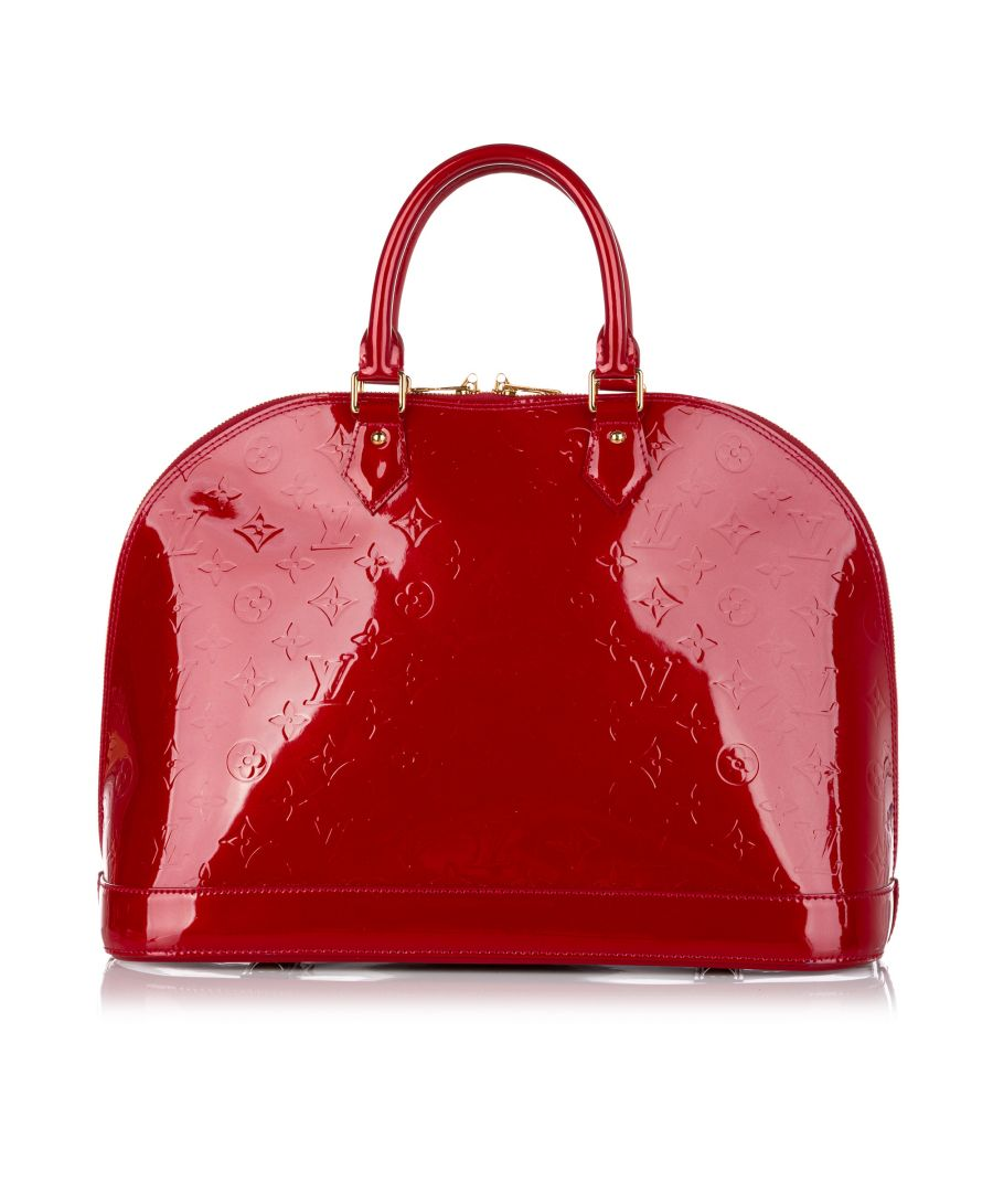 Image for Vintage Louis Vuitton Vernis Alma MM Red