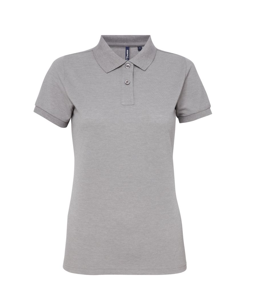 Image for Asquith & Fox Womens/Ladies Short Sleeve Performance Blend Polo Shirt (Heather Grey)