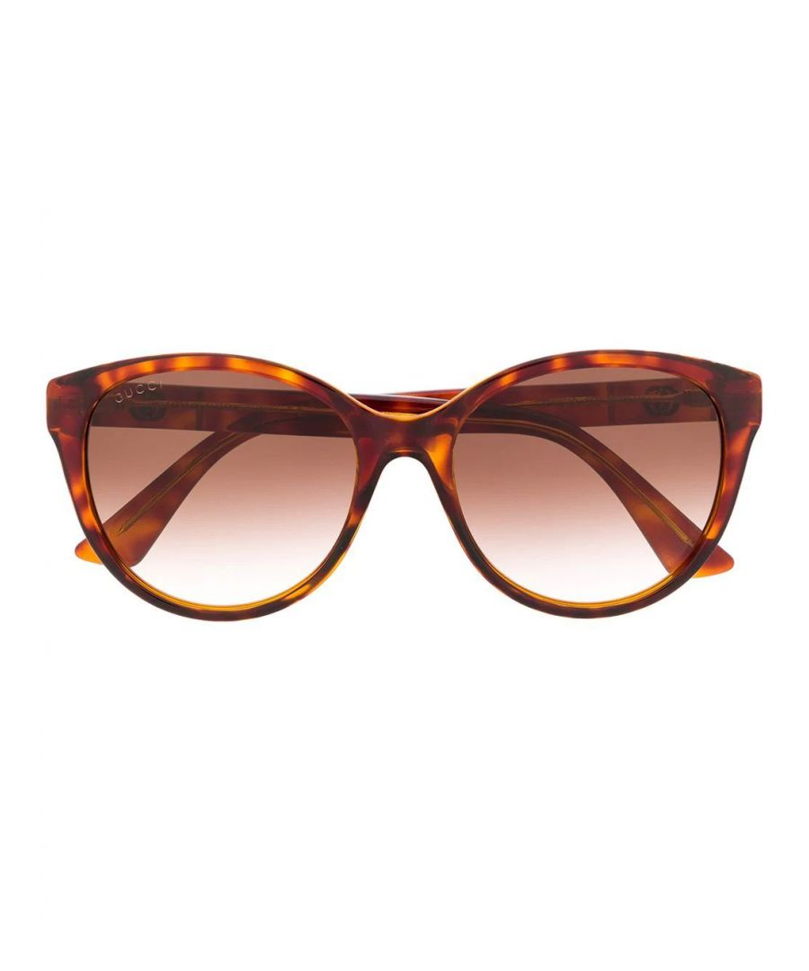Image for GUCCI WOMEN'S GG0631S002 BROWN ACETATE SUNGLASSES
