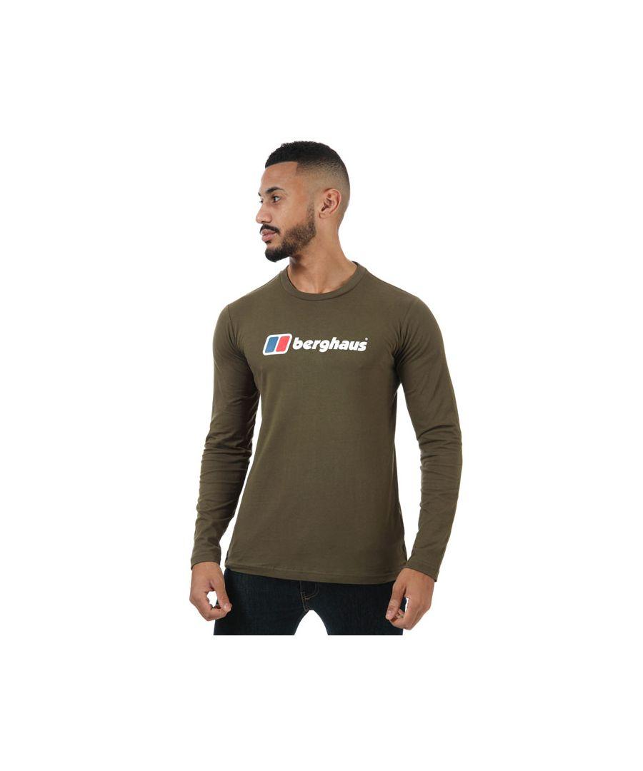 Image for Men's Berghaus Large Logo Long Sleeve T-Shirt in Green