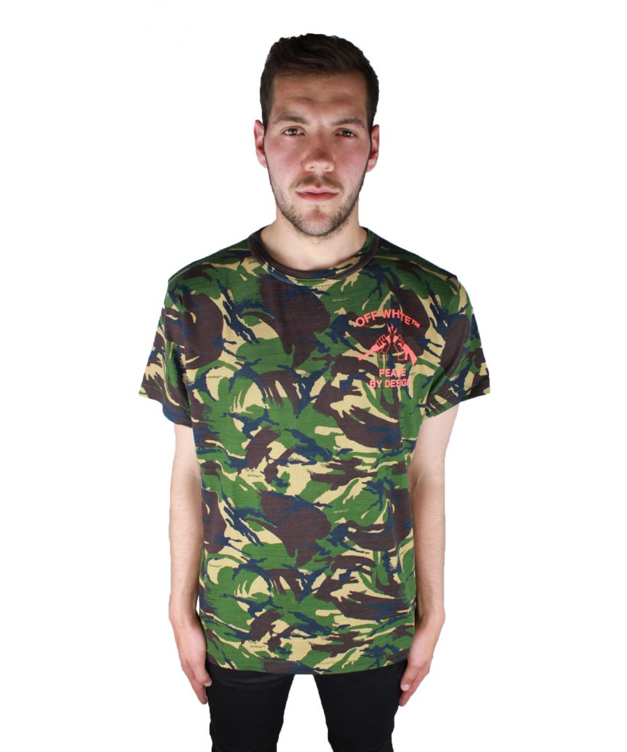 Image for Off-White Camouflage Tee OMAA002 S17411143 9919 T-Shirt