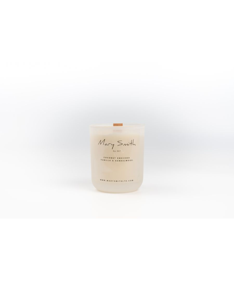 Image for Coconut Oil Infused Luxury Beeswax Candle - Vanilla & Sandalwood