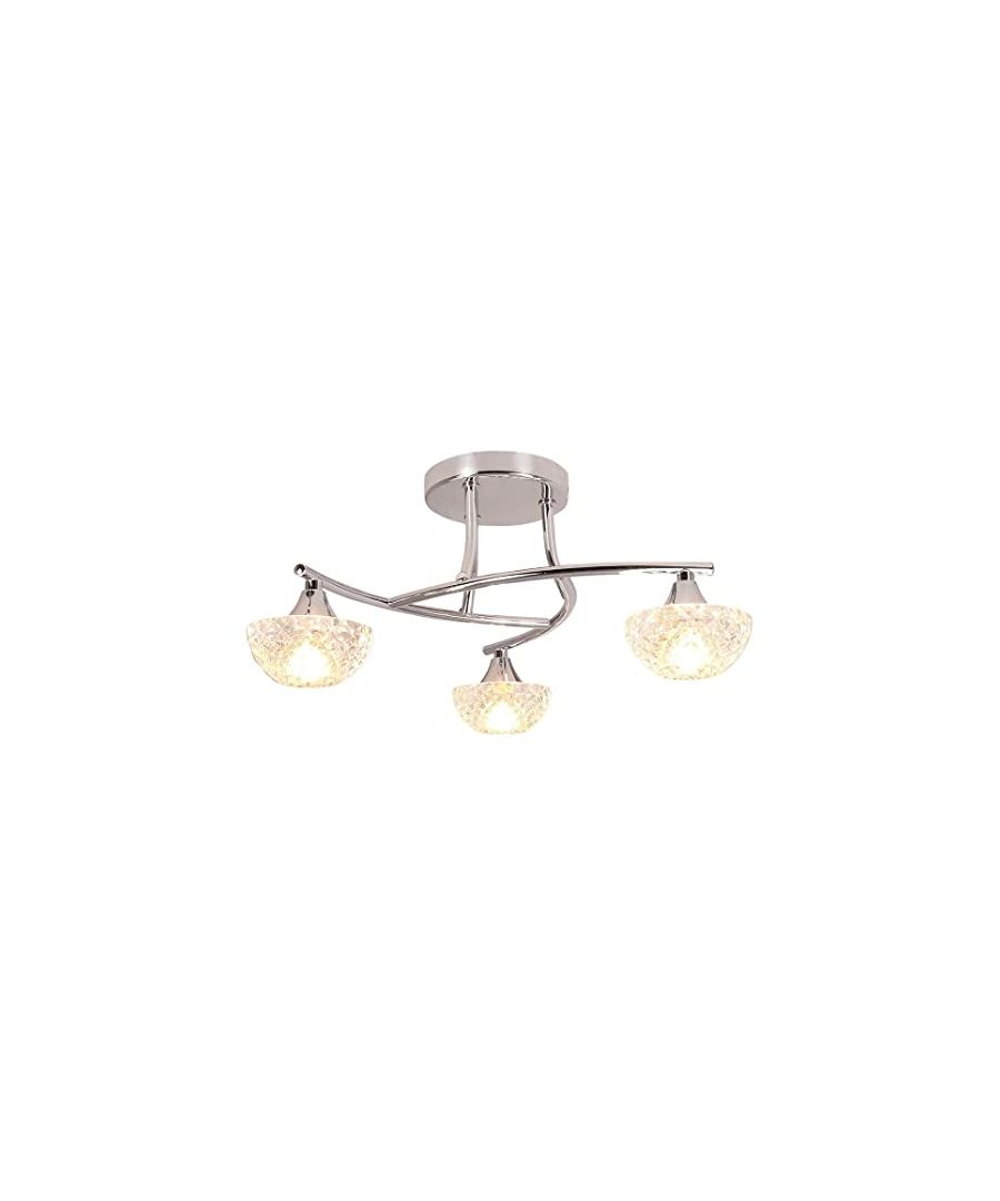Image for Capricorn 3 Light Semi-Flush Ceiling Light Polished Chrome