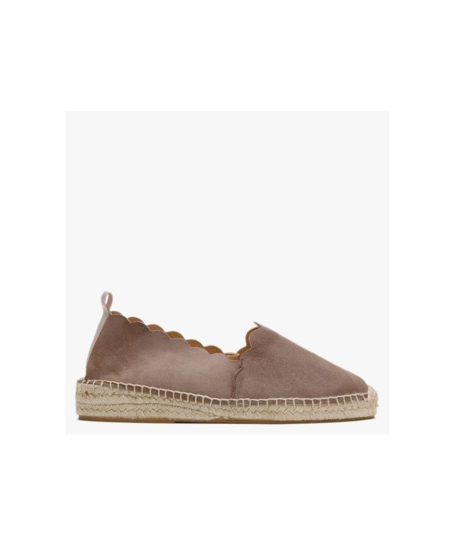 Image for Carmen Saiz Suede Scalloped Edge Espadrilles