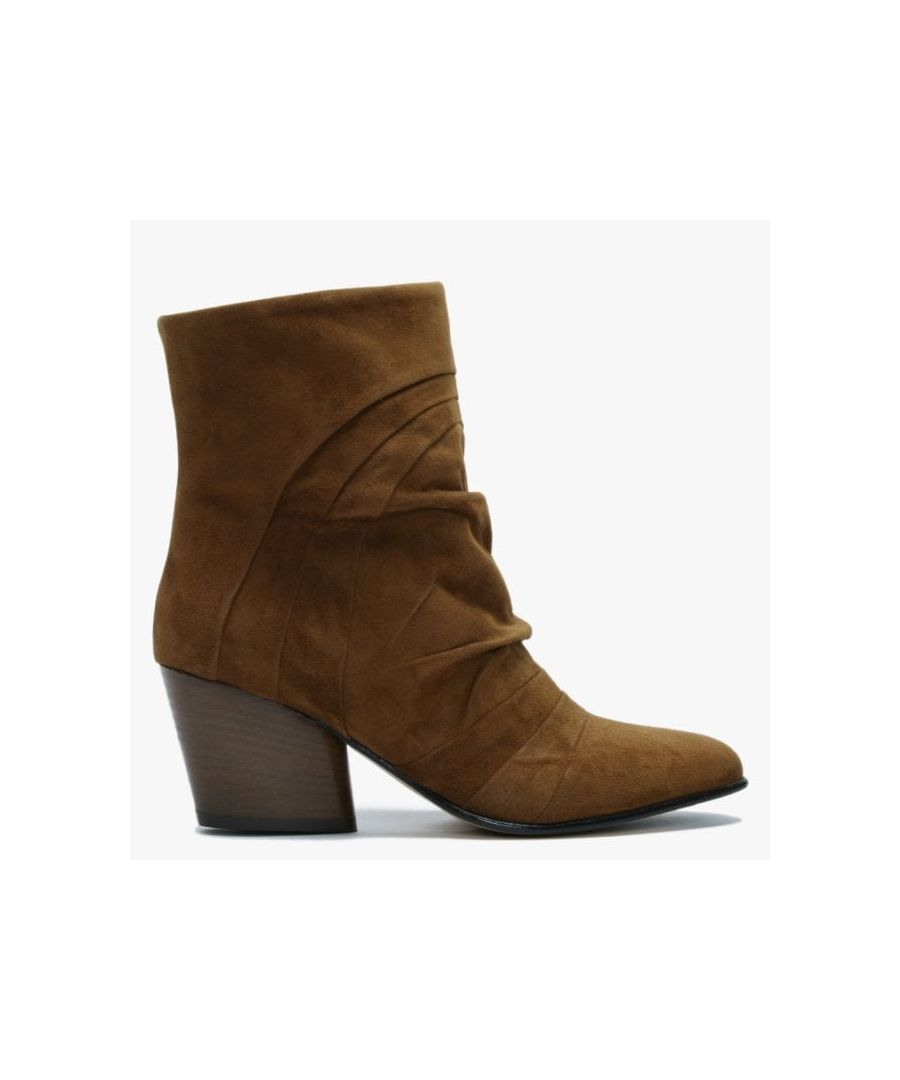 Image for Daniel Casette Pleated Suede Ankle Boots