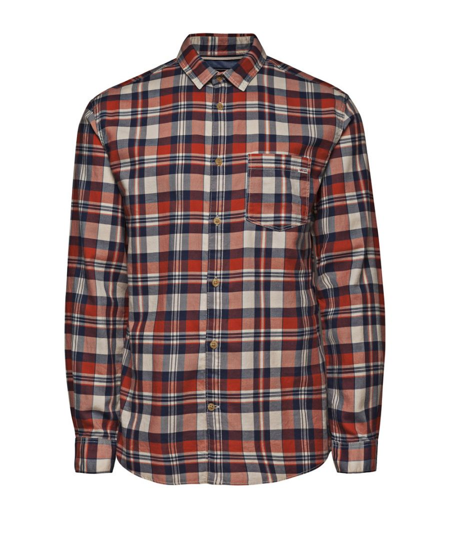Image for Jack and Jones Castleford One Red Casual Shirt