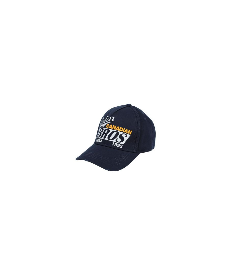 Image for Dsquared2 Caten Canadian Bros Navy Hat