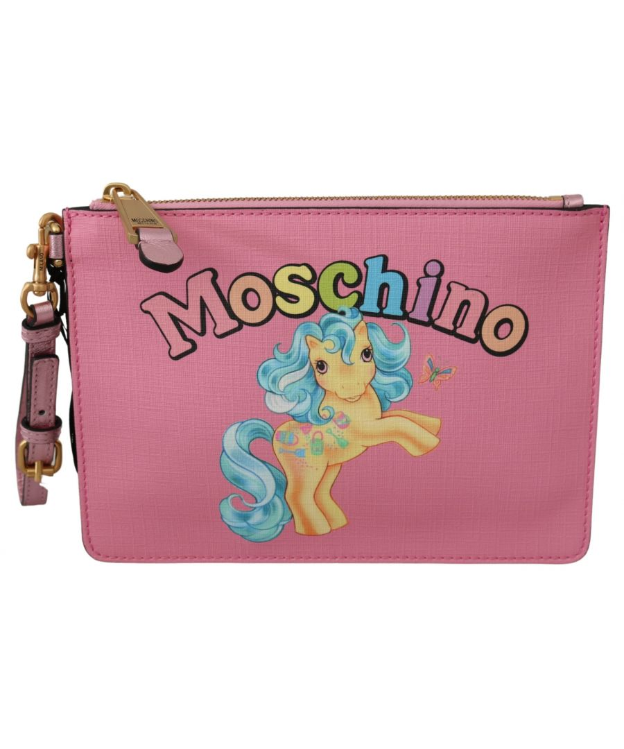 Image for Moschino Pink My Little Pony Women Hand Purse Clutch Bag