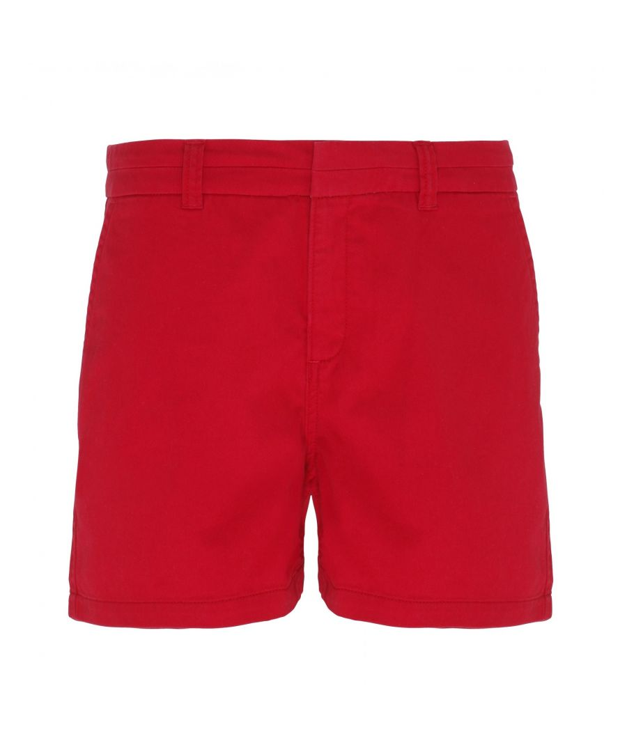 Image for Asquith & Fox Womens/Ladies Classic Fit Shorts (CherryRed)