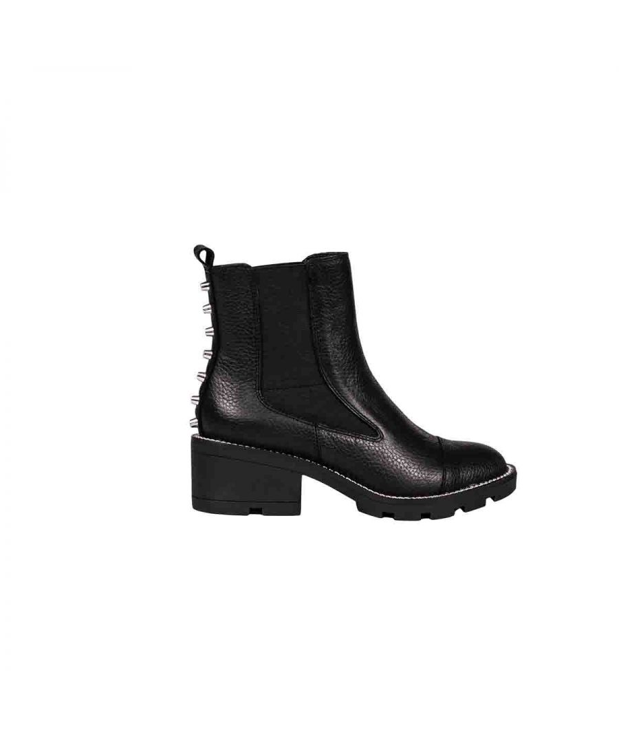 Image for KENDALL + KYLIE WOMEN'S KKPORT12 BLACK LEATHER ANKLE BOOTS