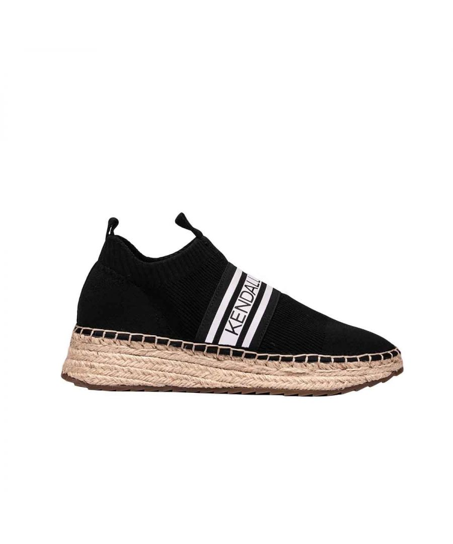 Image for KENDALL + KYLIE WOMEN'S KKJAKE01 BLACK FABRIC SLIP ON SNEAKERS