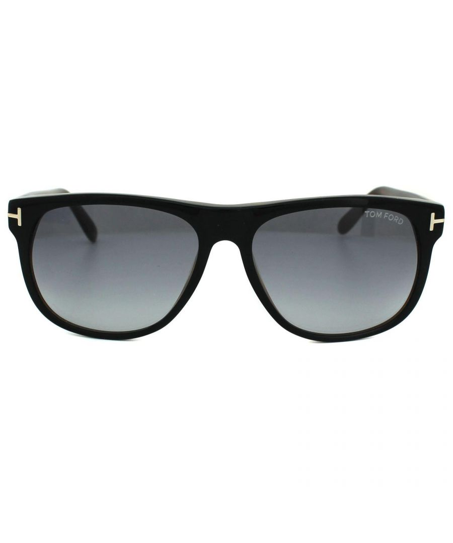Image for Tom Ford Sunglasses 0236 Olivier 05B Black & Brown Smoke Grey Gradient