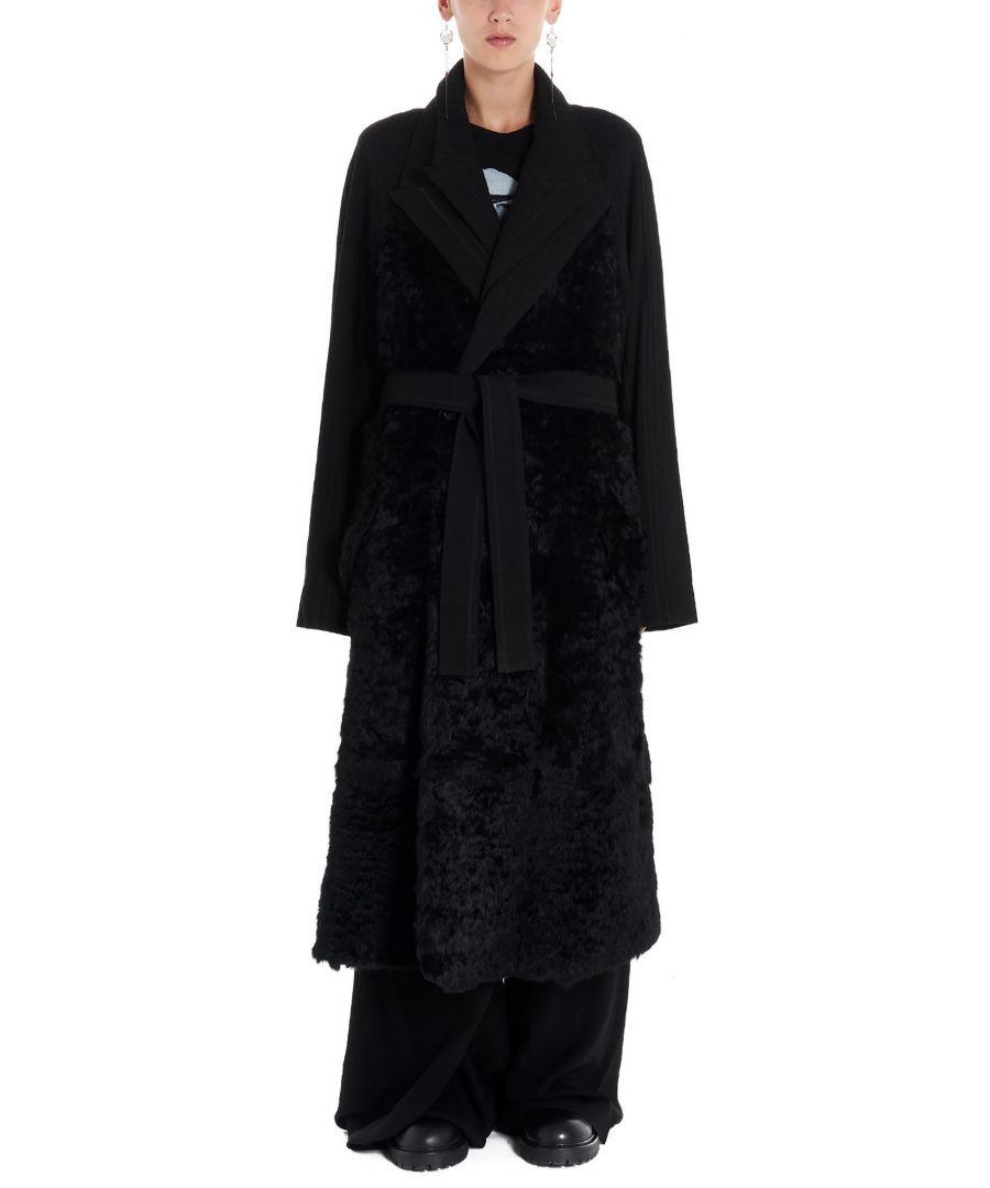 Image for ANN DEMEULEMEESTER WOMEN'S 19023204P192099 BLACK VISCOSE COAT