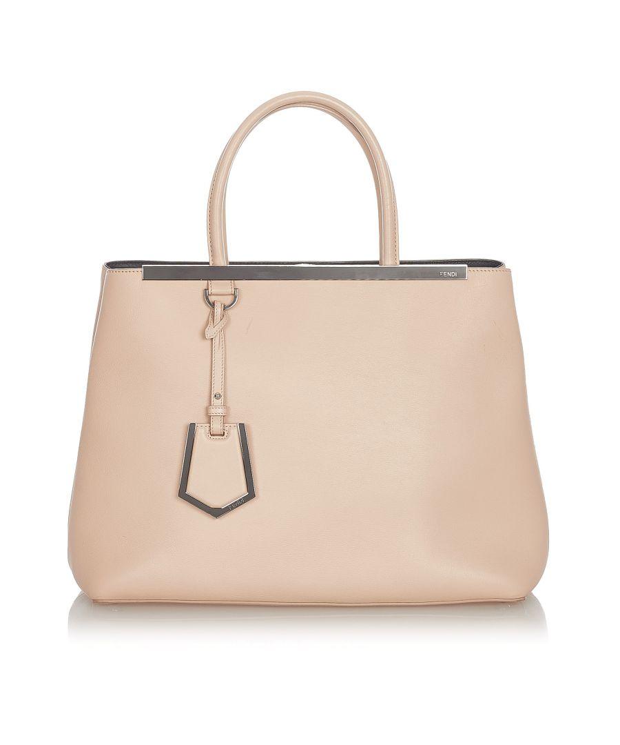 Image for Vintage Fendi 2Jours Leather Handbag Pink