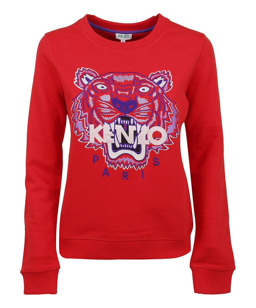 Image for KENZO WOMEN'S FA52SW7054XA21 RED COTTON SWEATSHIRT