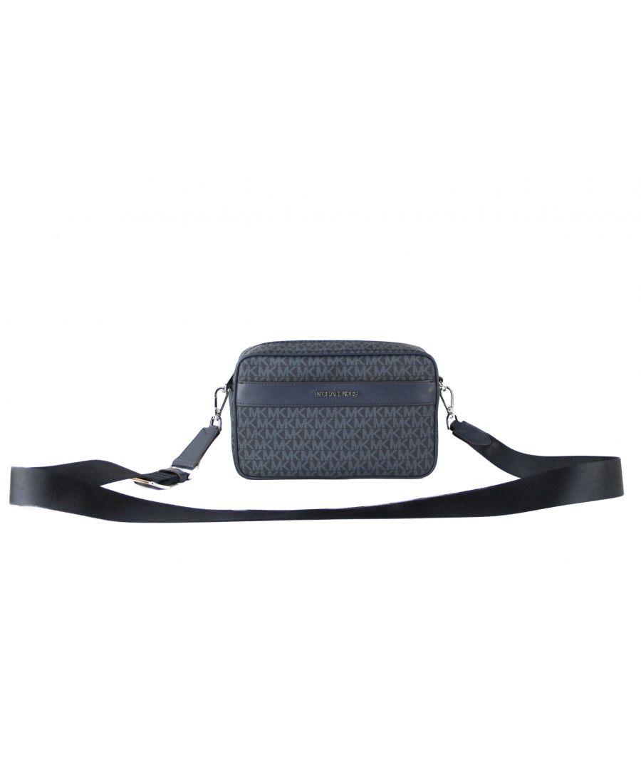 Image for Michael Kors Kenly Signature PVC Large Pocket Crossbody Handbag