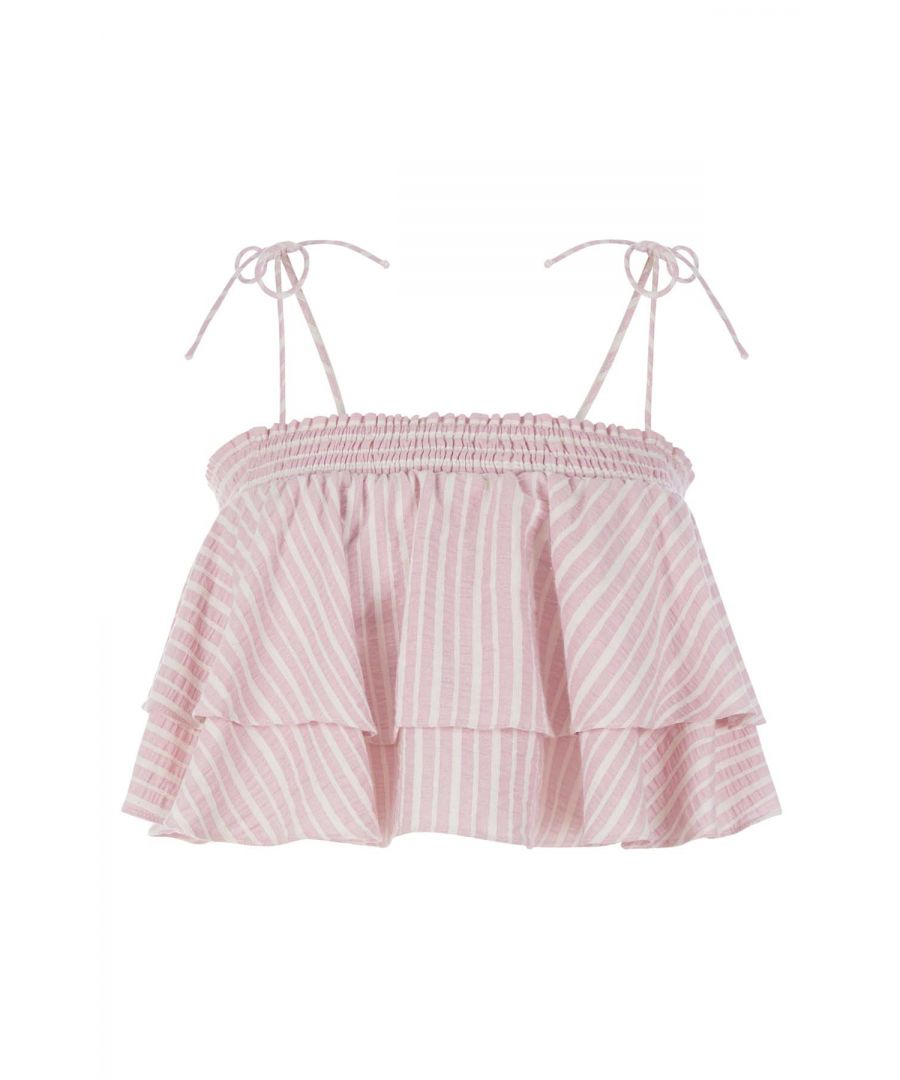 Image for Floozy Cotton Crop Top in Pink