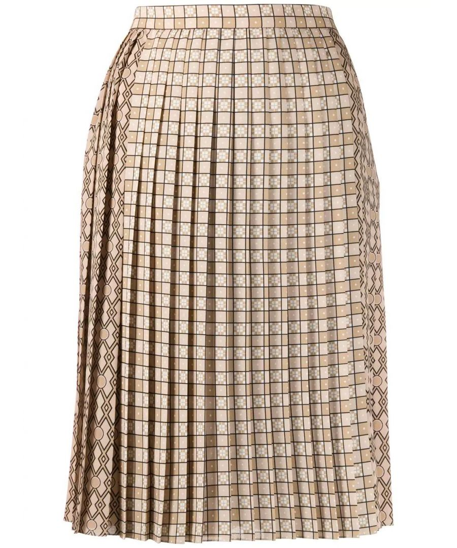 Image for BURBERRY WOMEN'S 8016899 BEIGE POLYESTER SKIRT