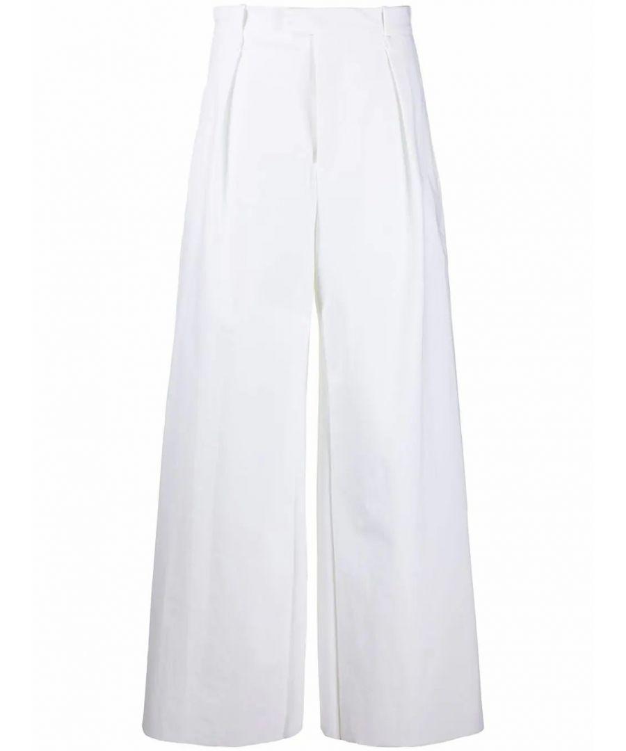 Image for BOTTEGA VENETA WOMEN'S 600982VKJ609122 WHITE POLYAMIDE PANTS