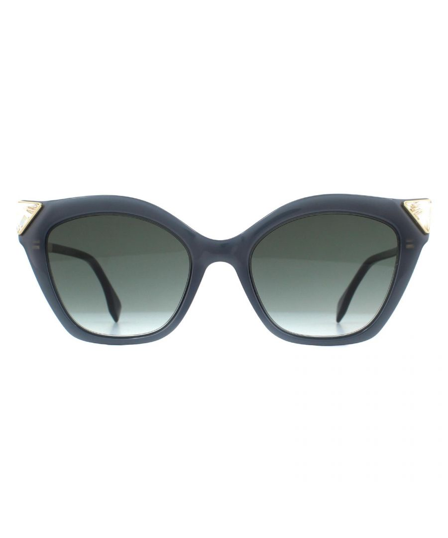 Image for Fendi Sunglasses FF 0357/G/S 807 9O Grey Opal and Gold Grey Gradient