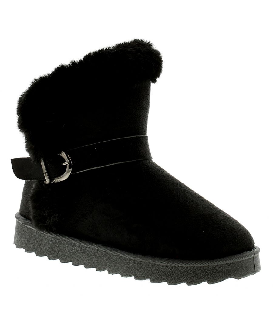 Image for Ladies Women'ss Boot Warm Faux Fur Slip On