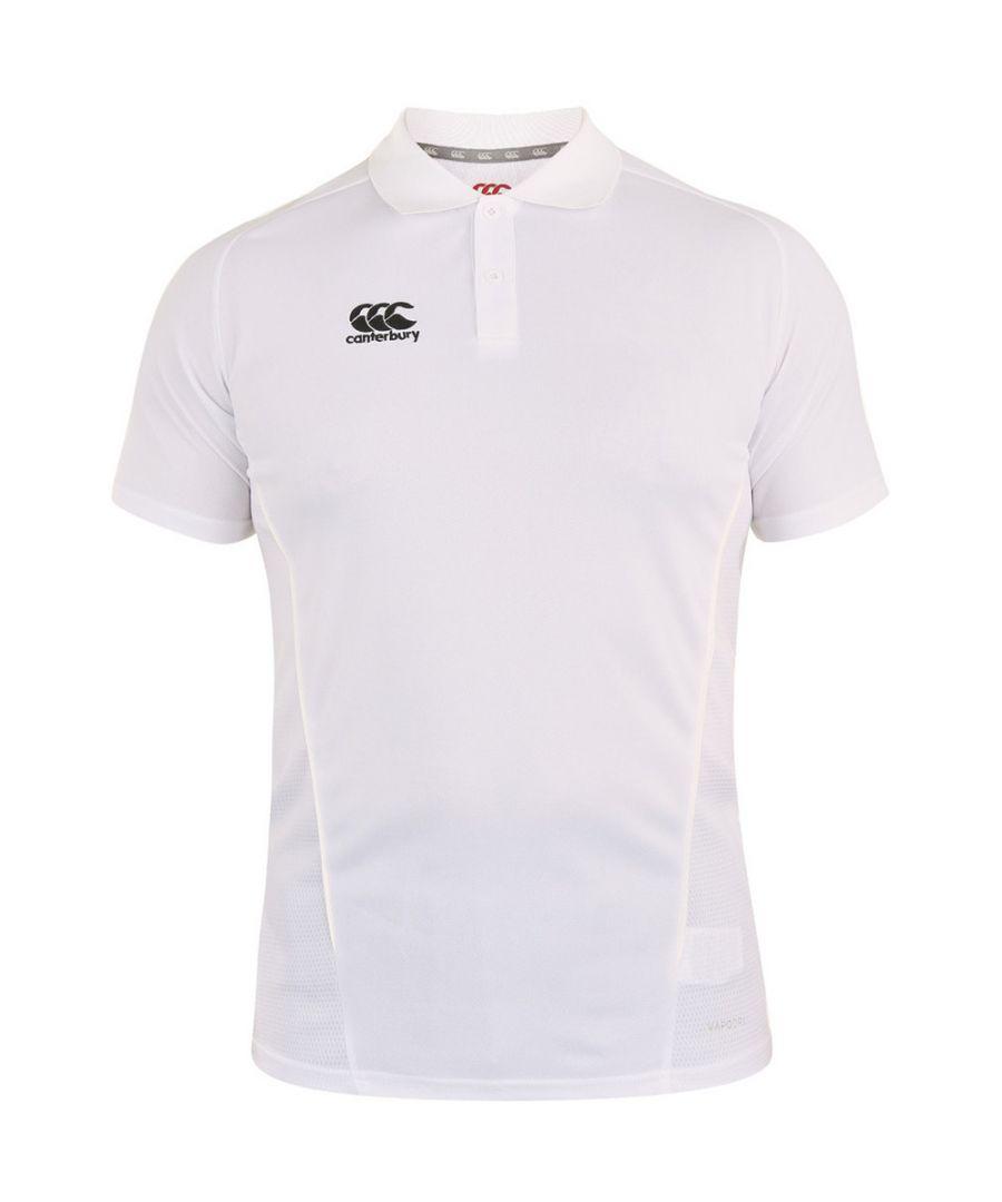 Image for Canterbury Mens Team Dry Moisture Wicking Polo Shirt