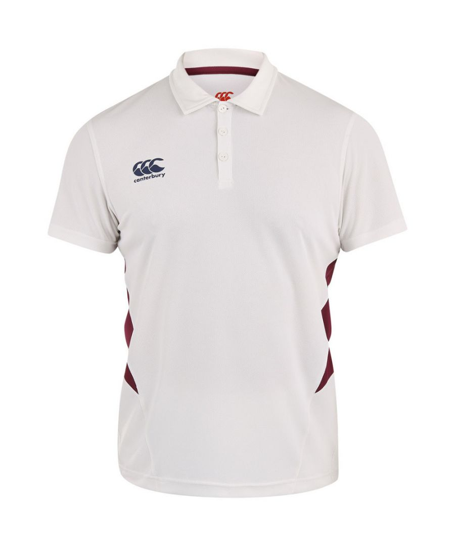 Image for Canterbury Mens Wicking CCC Logo Cricket Polo Shirt