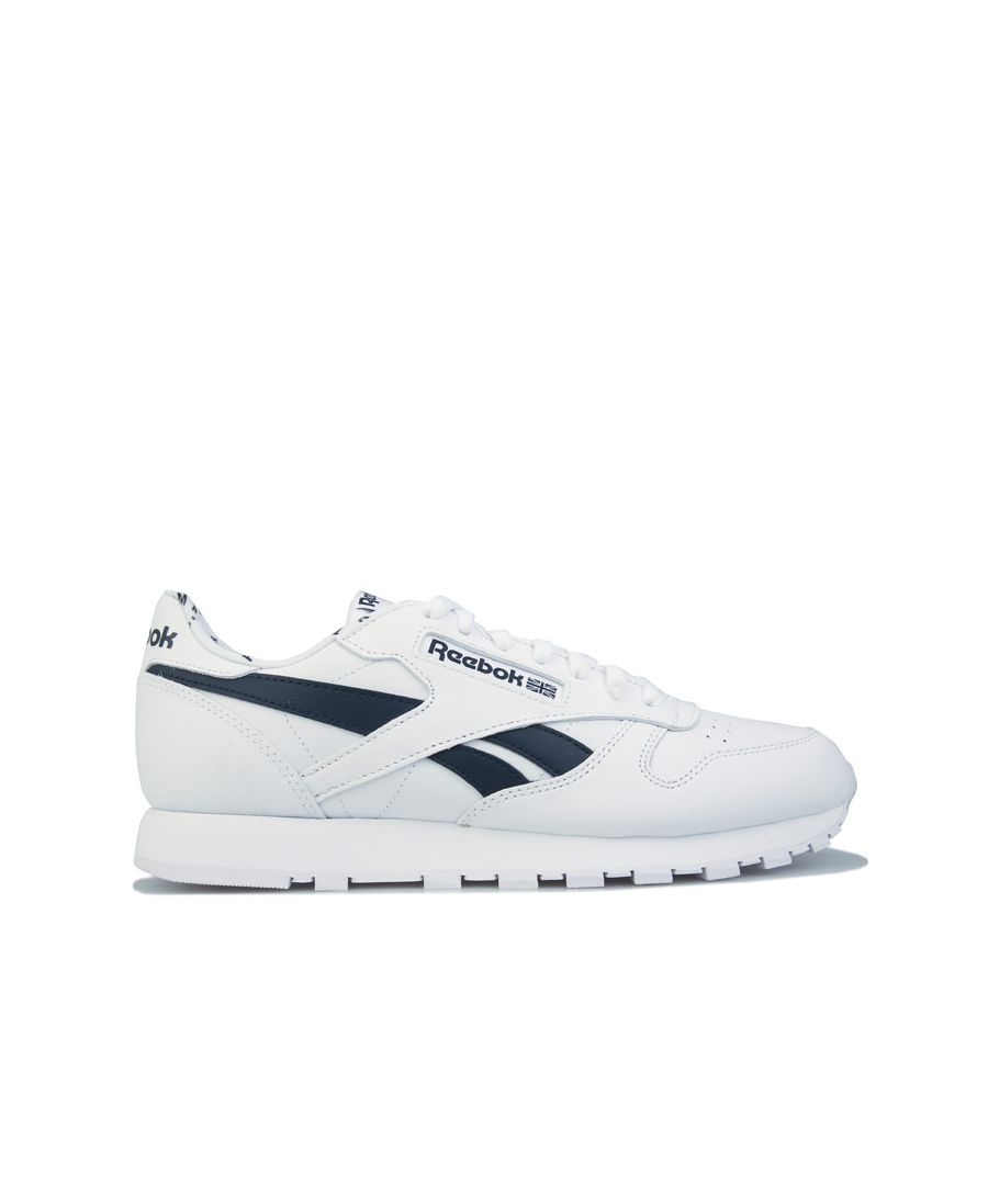 Image for Men's Reebok Classics Classic Leather Trainers in White Navy