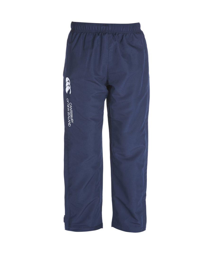 Image for Canterbury Boys CCC Logo Open Hem Stadium Tracksuit Pants / Bottoms