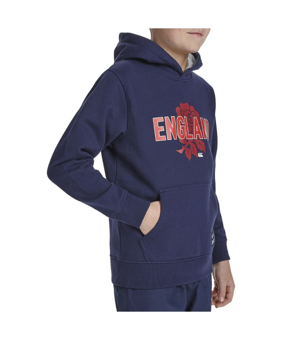 Image for Canterbury Boys England Rose Printed Pull Over Hoodie Top