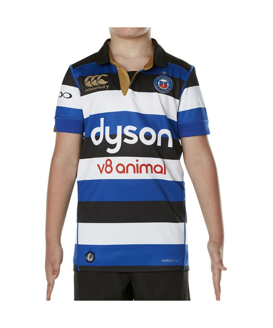 Image for Canterbury Boys Bath Vapodri Short Sleeve Home Pro Rugby Jersey Top