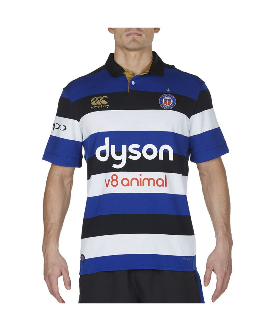 Image for Canterbury Mens Bath Vapodri Short Sleeve Home Clas Rugby Jersey Top