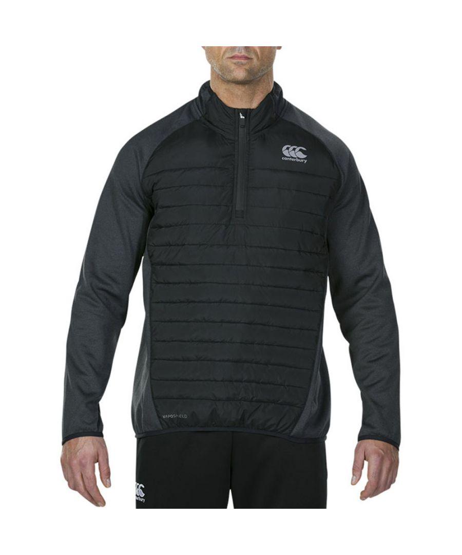 Image for Canterbury Mens Vaposhield Hybrid Water Repel 1/4 Zip Jacket