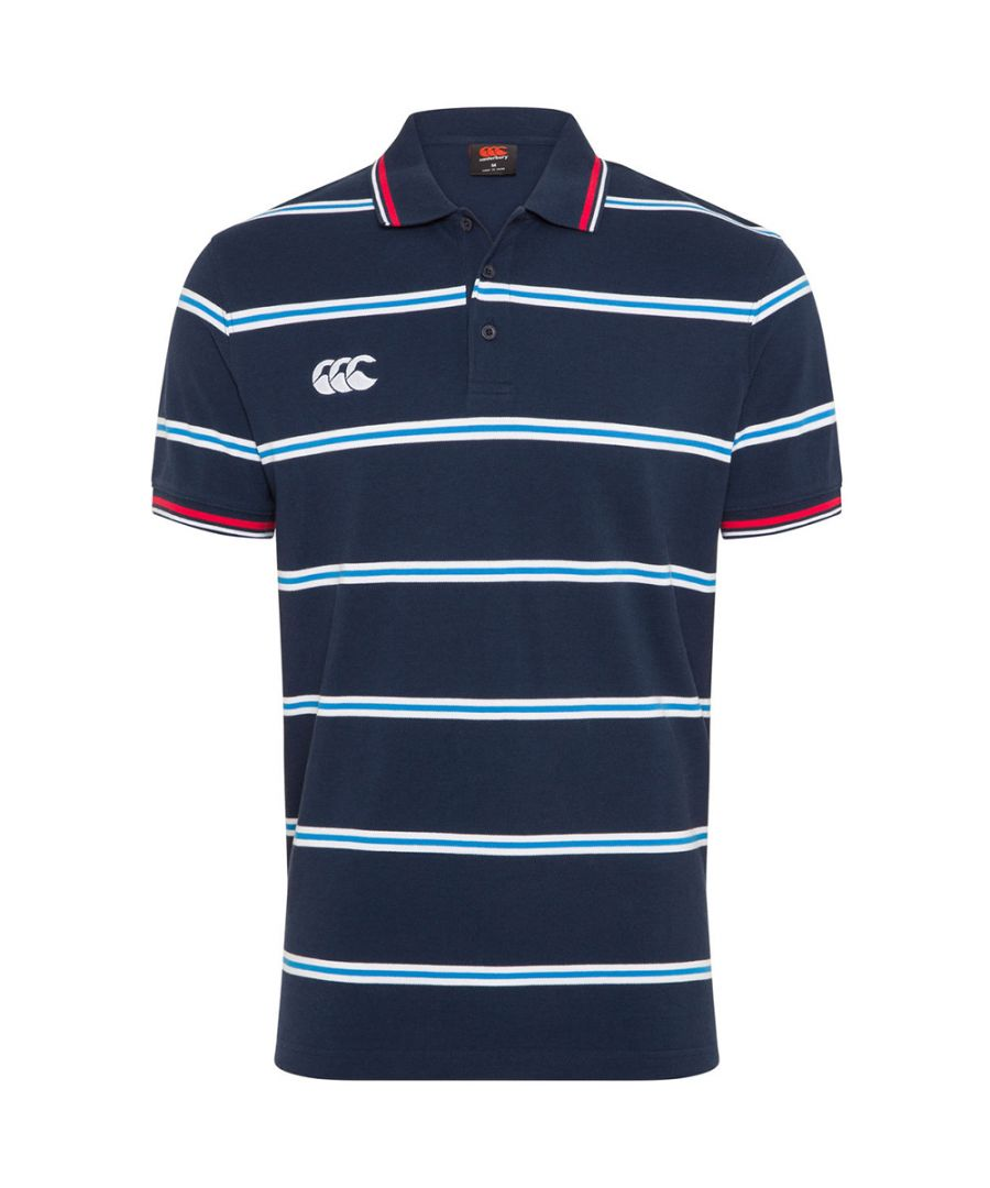 Image for Canterbury Mens Uglies Planate Yarn Dye Rib Knit Polo Shirt