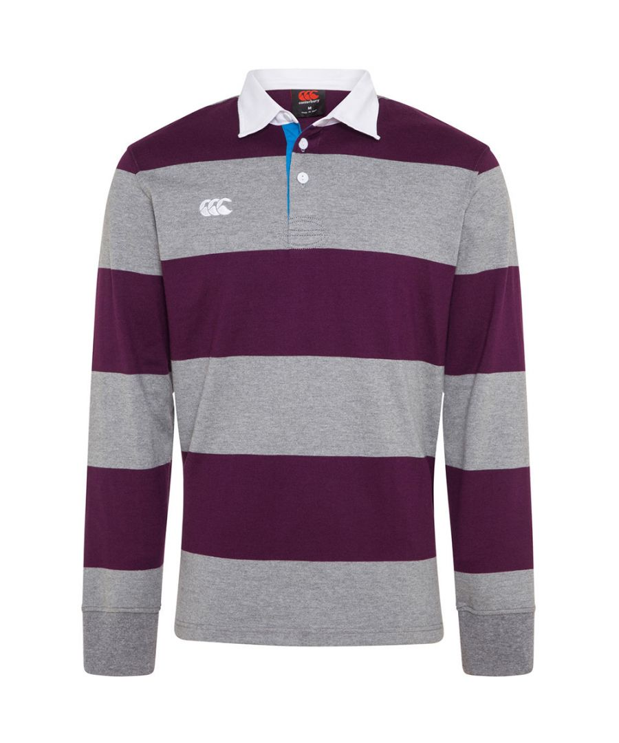 Image for Canterbury Mens Uglies Hoop Long Sleeve Polo Rugby Shirt